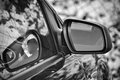 Car rear-view mirror Royalty Free Stock Photo