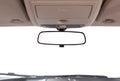 Car rear view mirror. Royalty Free Stock Photo