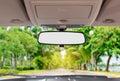 Car rear view mirror Royalty Free Stock Photo