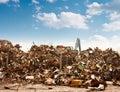 Car recycling dump Stock Image