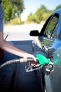 Car refuel refueling on a petrol station Royalty Free Stock Image