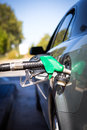 Car refuel refueling on a petrol station Stock Photography