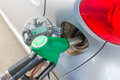 Car refuelling close up of a Stock Images