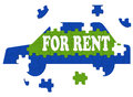 Car For Rent Shows Vehicle To Borrow Stock Images