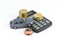 Car rental expences concept Royalty Free Stock Photo