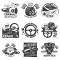 Car Repair Emblem Set