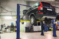 A car repair garage image of Stock Image