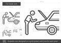 Car repair line icon.