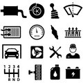 Car repair and mechanic icons shop icon set Royalty Free Stock Photography