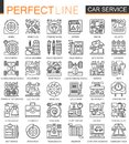 Car repair service outline mini concept symbols. Modern stroke linear style illustrations set. Perfect thin line icons. Royalty Free Stock Photo