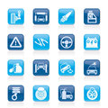 Car and road services icons vector icon set Stock Image