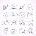 Car and road services icons vector icon set Royalty Free Stock Photo