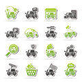 Car and road services icons vector icon set Stock Images