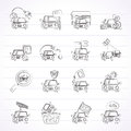 Car and road services icons Royalty Free Stock Photo