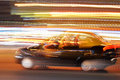 Car s ligths a in the midle of the nigth Royalty Free Stock Photography
