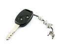 Car s remote control starter key with key chain a modern Stock Image