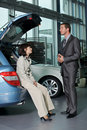 Car sales person Royalty Free Stock Images