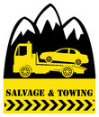 Car salvage and towing sign Stock Image