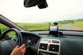 Car satelite navigation system gps device Royalty Free Stock Photo