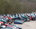 Car Scrapyard Stock Photography
