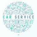 Car service concept in circle