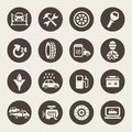 Car service icon set vector illustration Stock Image