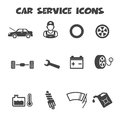Car service icons mono vector symbols Royalty Free Stock Photography