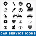 Car service icons set vector eps Stock Image