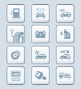 Car service icons | TECH series Stock Images