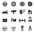 Car service maintenance icon set vector illustration Stock Photography
