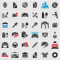 Car service maintenance icons set, car vector icons, auto parts, car repair