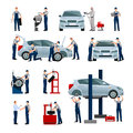 Car Service People Icons Set