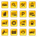 Car service & repair icons Royalty Free Stock Photo