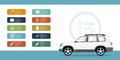 Car service and repair infographic