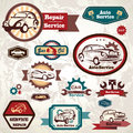 Car service retro emblem Stock Photography