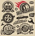 Car service symbols Royalty Free Stock Photo