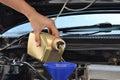 Car servicing mechanic Royalty Free Stock Photo