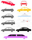 Car set Royalty Free Stock Images