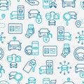 Car sharing seamless pattern