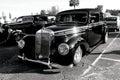 Car show black mercedes benz Royalty Free Stock Photo