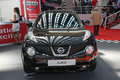Car show nissan juke at bg and international motorcycle fair in belgrade serbia mart Stock Photography