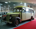 Car show st belgrade international march bus praga pionir made Royalty Free Stock Image