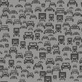 Car Silhouette Seamless Pattern