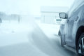 Car in a snowdrift snow Royalty Free Stock Photo