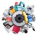 Car spare parts logo. 3d concept Royalty Free Stock Photo