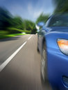Car at speed Stock Image