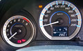 Car speed meter modern in racing style Royalty Free Stock Images