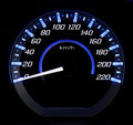 Car speedometer in modern Stock Image