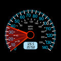 Car speedometer for racing design. Royalty Free Stock Photography