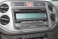 Car stereo cd and fm radio panel with control instruments Stock Image